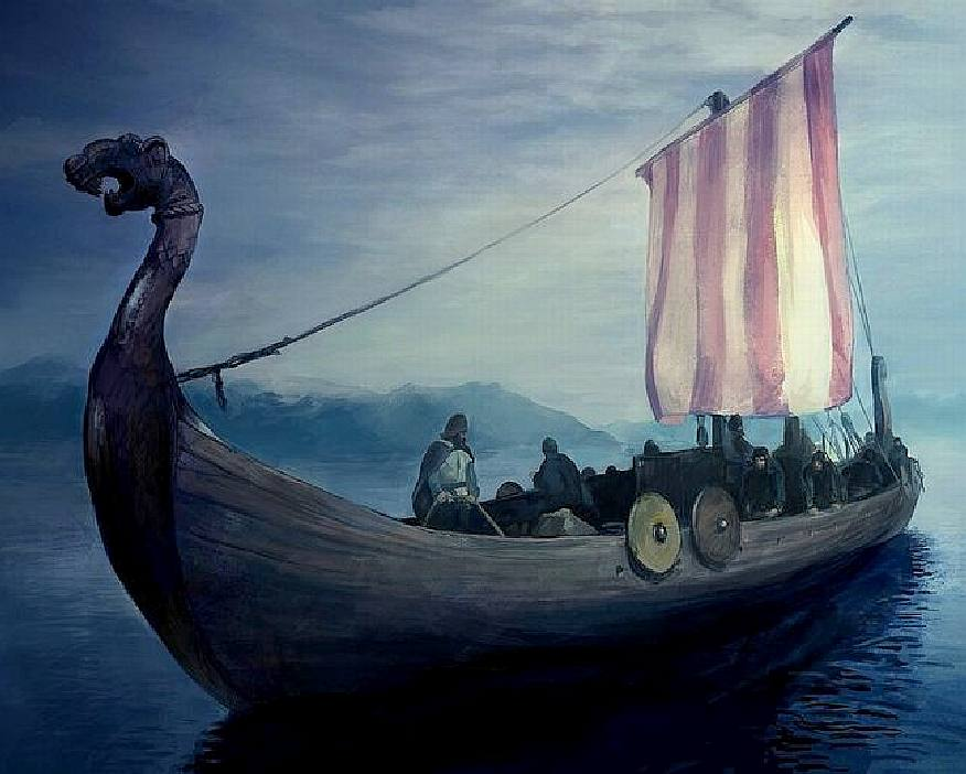 Viking Ship Painting For Sale