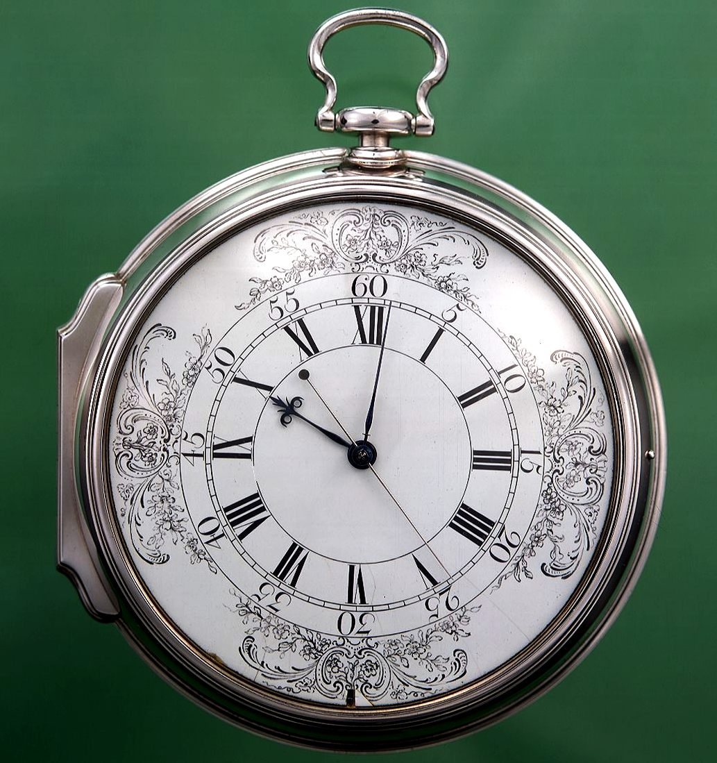 The H4 prize winning marine chronometer the size of a large pocket watch.