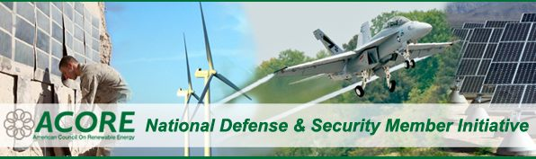 ACORE banner, American Council On Renewable Energy