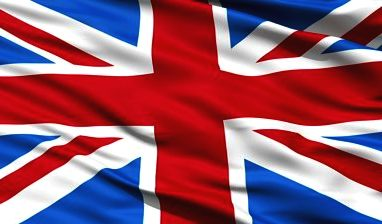 The British Union Jack flag