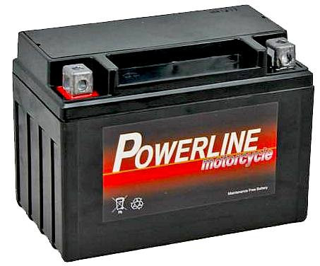A 12 volt 9 amp hour motorcylce battery