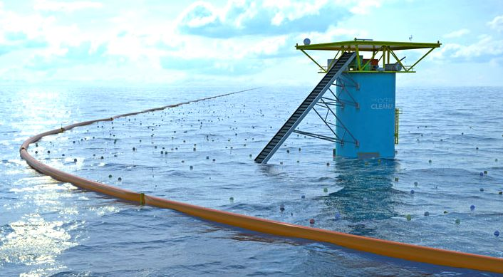 Boyan Slat's ocean cleanup project