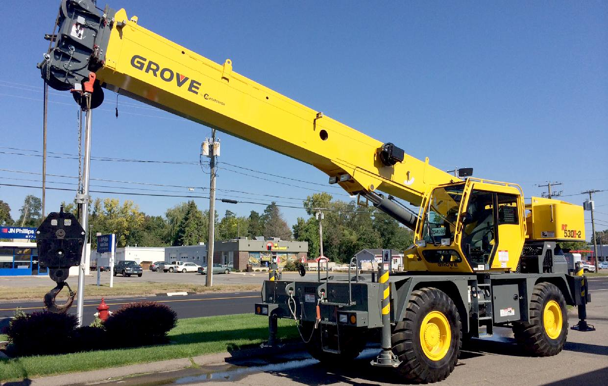 Cranes lifting equipment portable plant hydraulics hoists for Crane grove