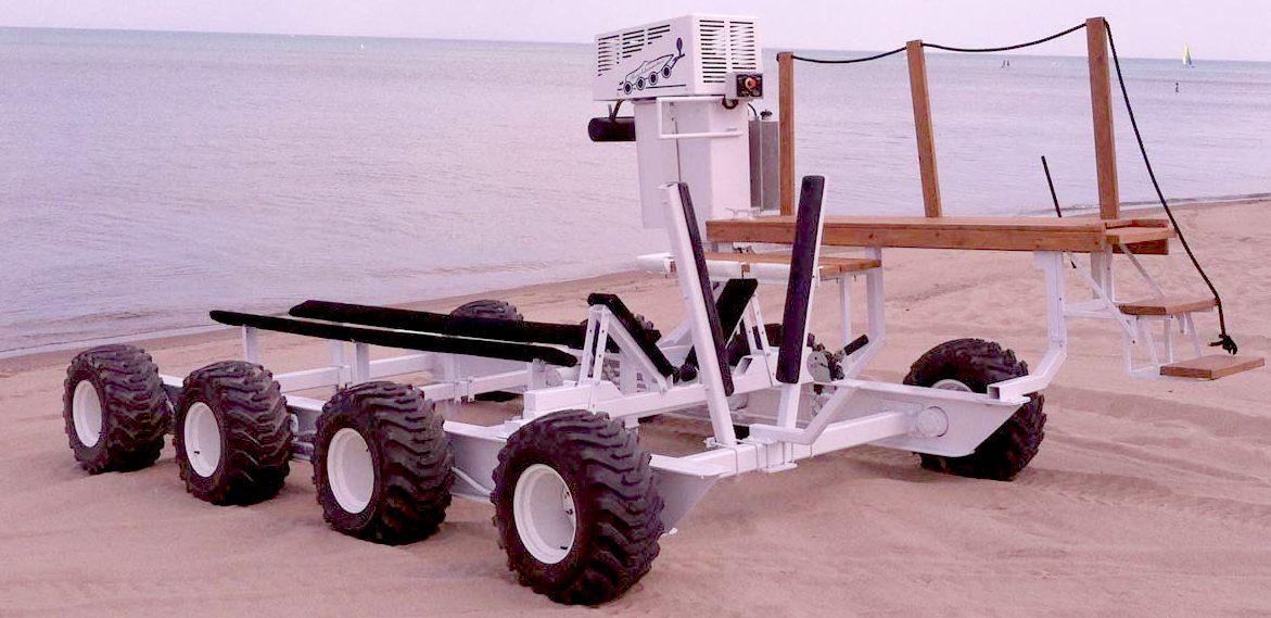 Amphibious Boat Launching System Motorised Remotely