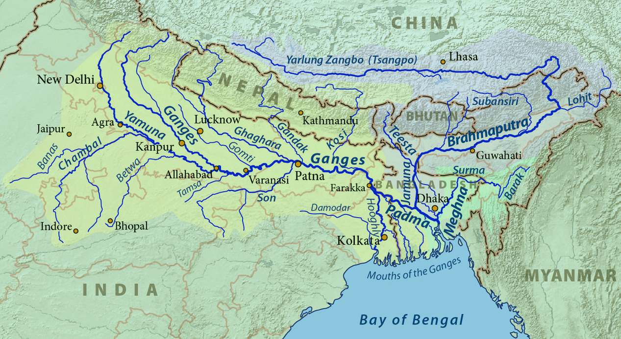 THE RIVER GANGES HINDU HOLY MOTHER GANGA - Hindu countries in world map
