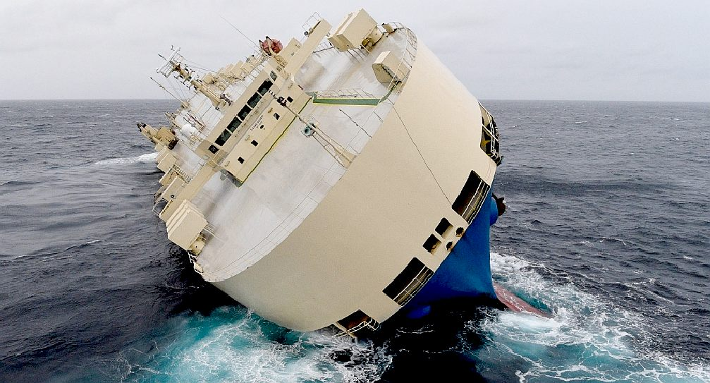 Bay of biscay modern express cargo ship capsized in the bay of biscay publicscrutiny Gallery