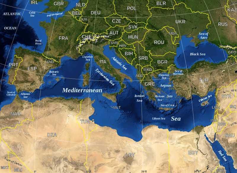 map of europe seas and oceans THE MEDITERRANEAN SEA WORLD OCEANS