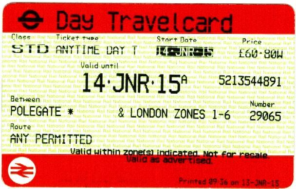 activities london travel card