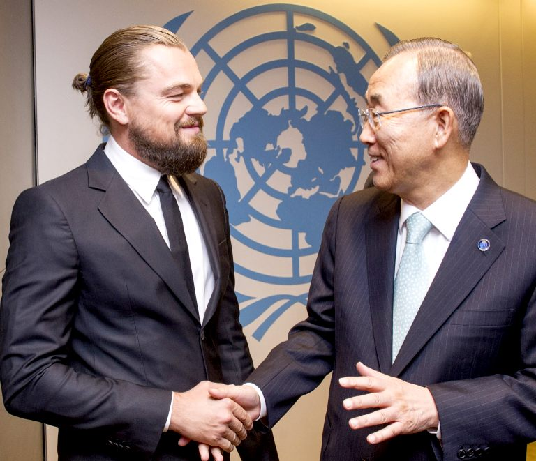 Leonardo di Caprio at the UN summit on climate change