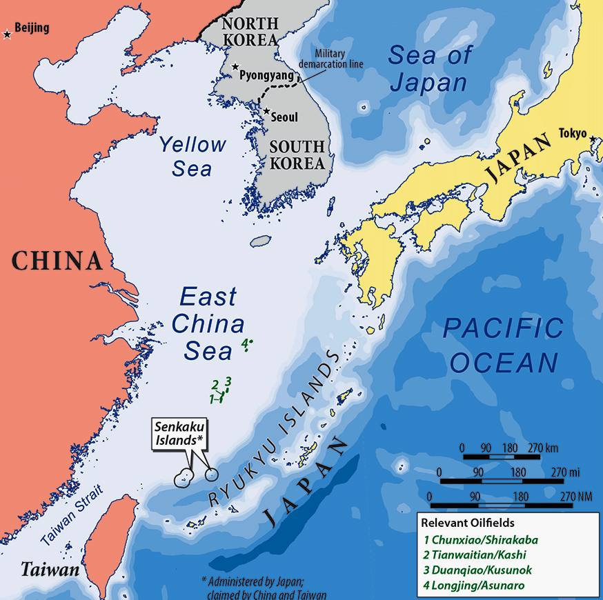 China Sea Map EAST CHINA SEA