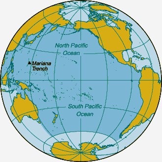 THE PACIFIC OCEAN - World map pacific ocean
