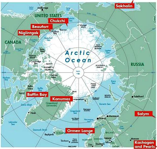 THE ARCTIC OCEAN - Arctic map