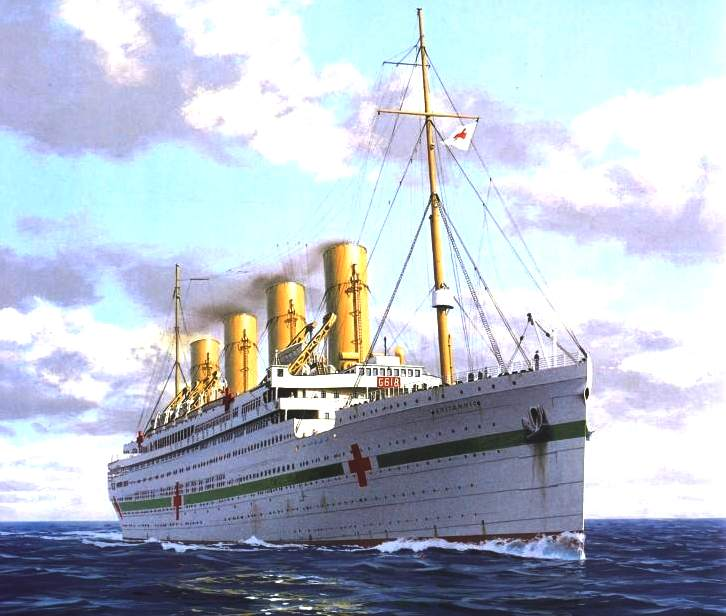 Rms Olympic: BRITANNIC MINE SINKING U BOATS ATTACK WHITE STAR LINE