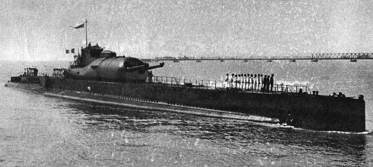 The French submarine Surcouf in 1935