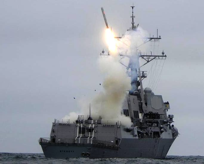 Launch of a Tomahawk cruise missile